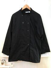 Chef Works Black Bastille Jacket Coat Sz M Long Sleeve Euro 50 54 Uk 4042