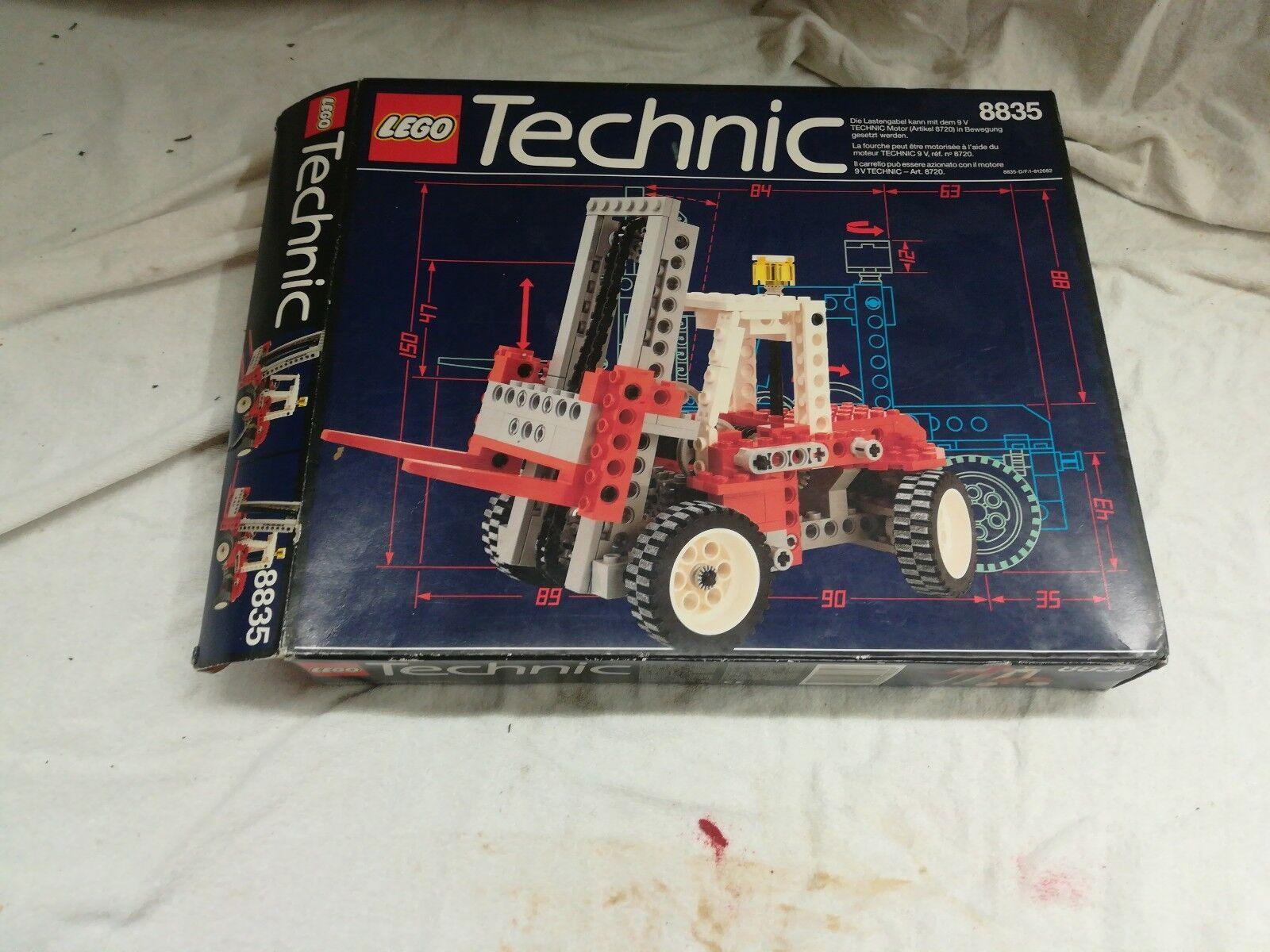 LEGO Technic 8835 Gabelstapler 1989 mit Original Bauanleitung
