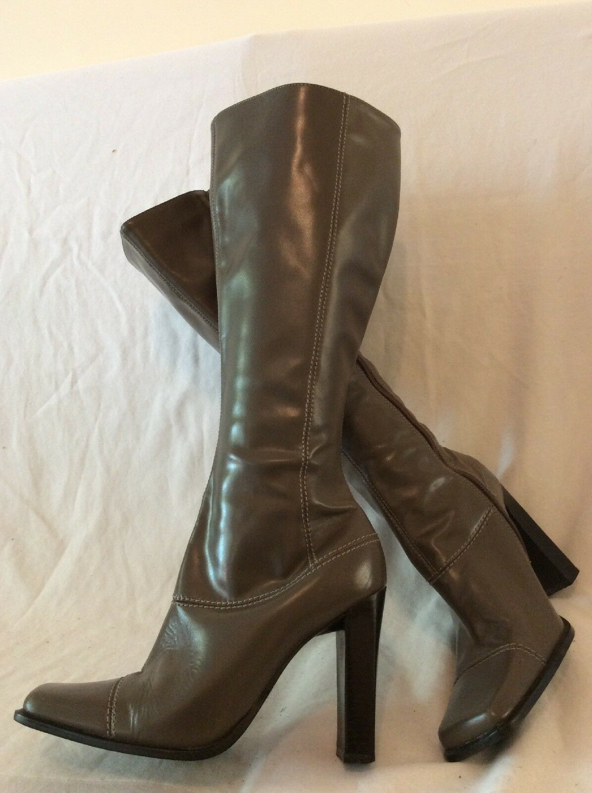 Ravel Brown Knee High Leather Boots Size 5