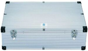 Neo-Silver-800-DJ-Aluminium-CD-DVD-Blu-Ray-Disc-Storage-Flight-Carry-Case-Box