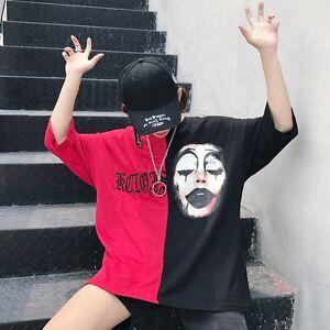 Harajuku-Woman-Punk-Print-T-shirt-Loose-Clown-Japanese-Lolita-Casual-Gothic-Tops