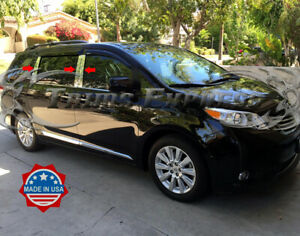 fit-2011-2019-Toyota-Sienna-Chrome-6Pc-Pillar-Post-Stainless-Trim-Door-Cover
