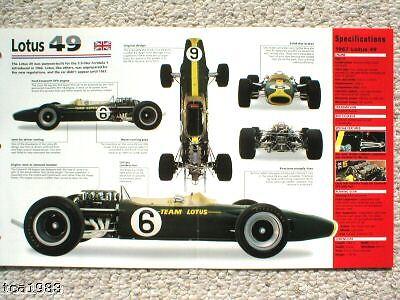1967,1968 Broschüre Realistic Lotus 49 F1 Formula 1 Spezial Folie