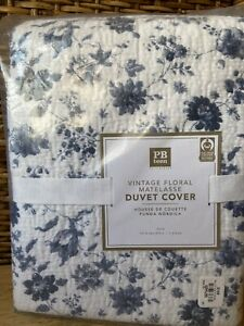 Pottery Barn Teen Vintage Floral Matelasse Blue Floral Twin Duvet Cover Nwt A2r Ebay