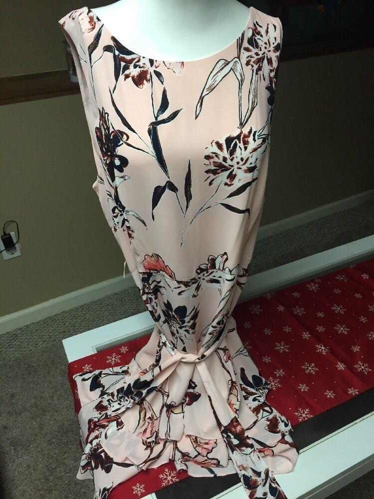 148 148 148 Ivanka Trump Pink Floral Dress Size 14 M1 2d1d13