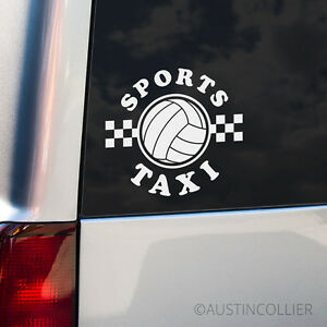 VOLLEYBALL-SPORTS-TAXI-Vinyl-Decal-Car-Truck-Window-Sticker-Mom-Dad-Family