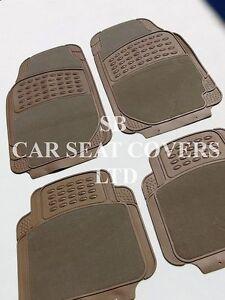 I-Semi-compatible-avec-A-VAUXHALL-ADAM-voiture-de-luxe-Tapis-2210-beige-4