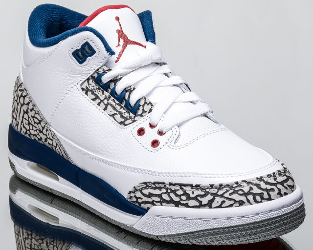 sale retailer fa7a9 dedf8 Air Jordan 3 Retro OG BG True Blue III youth lifestyle sneakers white  854261-106