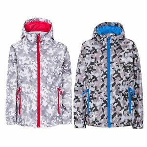 Trespass-Qikpac-Kids-Waterproof-Jacket-Girls-Boys-Camouflage-Packaway-Rain-Coat