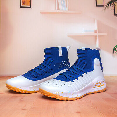 curry shoes white and blue