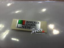 Nuevo genuino cadena de reemplazo de motos Honda OEM Ajustador marcador Decal Sticker