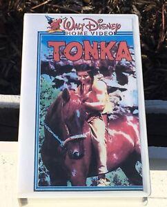 Vintage-Tonka-VHS-Walt-Disney-Hogar-Video-Ninos-Pelicula-Indio-amp-Caballo-en-Caso