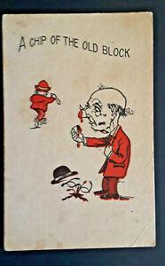 1911 Colfax To Chenoa IL Chip Off Nose Like The Old Block Comic Postcard Cover