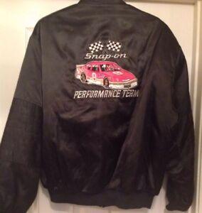 Dodge Ram Hoodie >> BILL ELLIOTT 1985 Quilt Lined BLACK SNAP ON RACING JACKET ...