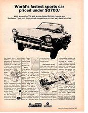 1967 SUNBEAM TIGER V-8 ~ CLASSIC ORIGINAL PRINT AD
