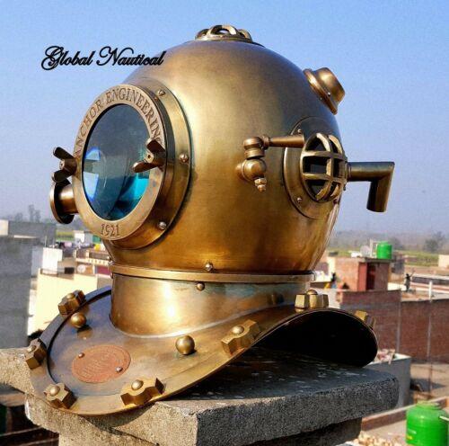Vintage antique 18 Inch diving divers helmet deep sea 1921 anchor engineering