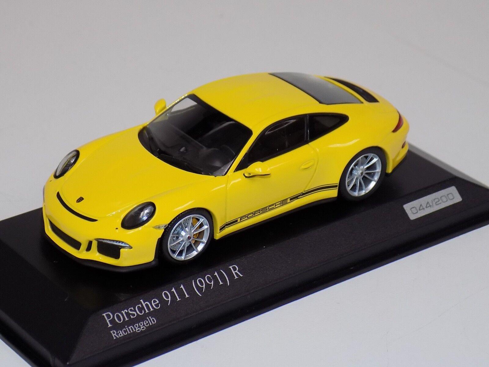 Ven a elegir tu propio estilo deportivo. 1 43 Minichamps PORSCHE 911 (911) R Amarillo Amarillo Amarillo CA04316095  Entrega rápida y envío gratis en todos los pedidos.
