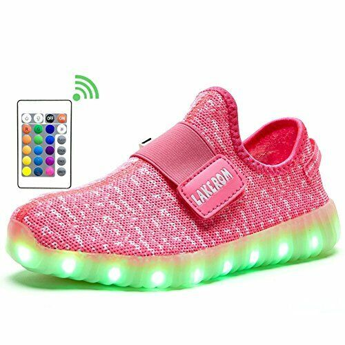 LakeRom Shoes Boys SNEAKERS Girls Light up Trainers USB Charging LED Shoes Kids