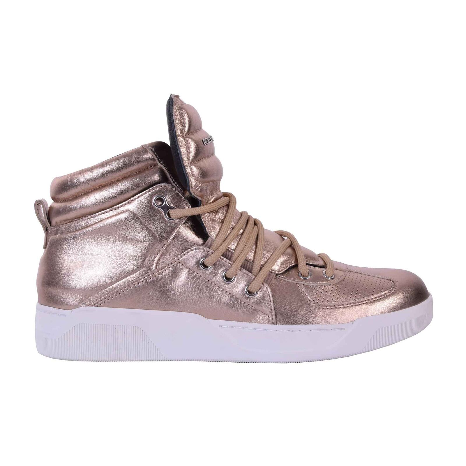 DOLCE & GABBANA Shiny Nappa High-Top Sneaker Sneakers Shoes BENELUX Gold 05937