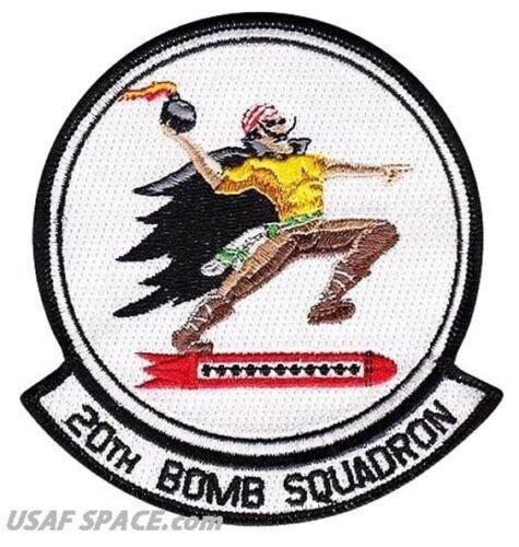USAF 20th BOMB SQUADRON B-52 LA Barksdale AFB ORIGINAL AIR FORCE PATCH