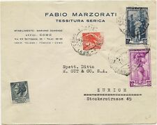 P7823   Como, busta spedita in Svizzera (Zurigo), 1956