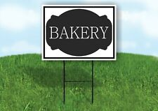 Bakery Black Tag Yard Sign Road With Stand Lawn Sign