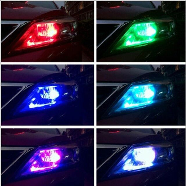 2x T10 Strobe Remote Control 5050 LED  Multi-color Interior Wedge Side Light Hot