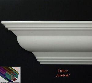 24M-4-Ecken-Meter-Stuckprofile-10cmx10cm-Stuckleisten-Zierprofil-Dekor-034-Svelvik-034