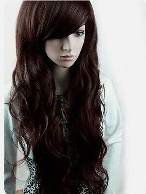 Sexy NEW Fashion Womens Full wigs Long Curly Wavy hair Wig Cosplay Party Wigs