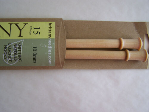"Brittany Single Point Knitting Needles 10/"" Wooden select size  SP10"