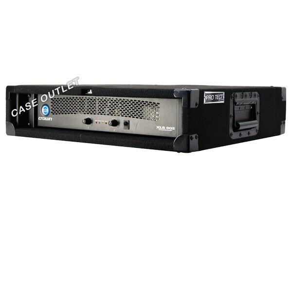 Amp Rack 2U space for power amplifier effect processors music gear schwarz carpet