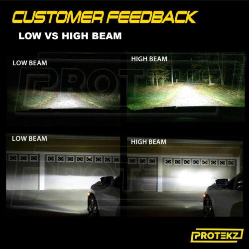 Protekz LED Fog Light Kit H8 6000K 1200W for 2012-2013 Volkswagen CC