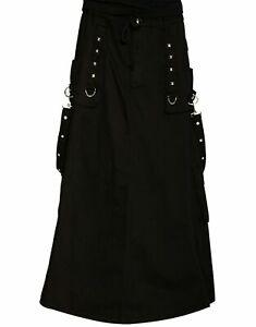 Gonna Lunga 2021 Nuovi Lgb Kilt Bondage Gothic Punk Rock Kilt Rave Techno Veloce Spedizione Ebay