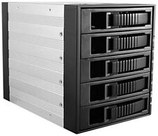 iStarUSA 3x5.25 to 5x3.5HotSwap BPU-350SATA-BLACK HDD Enclosures NEW