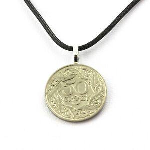 Collier-piece-de-monnaie-Pologne-50-groszy