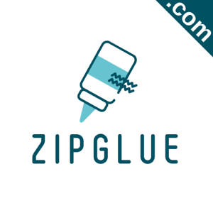 ZIPGLUE-com-Catchy-Short-Website-Name-Brandable-Premium-Domain-Name-for-Sale