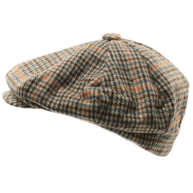 Mens Winter Retro 70s Oversized Big 8 Panel Newsboy Paperboy Cap Hat XL Taupe