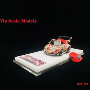 VIP-1-64-SCALA-PORSCHE-911-993-Cabriolet-RWB-Q-Auto-LIMITATA-SUN-Fiori-modello-di-auto