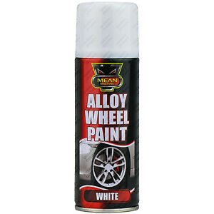 1 x 200ml white satin alloy wheel spray can restorer car. Black Bedroom Furniture Sets. Home Design Ideas