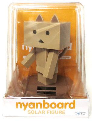 NEW Taito Danboard Nyanboard Yura Yura Tail Solar Figure Black 15cm TAI51000