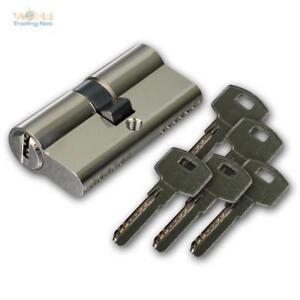 Schließzylinder mit 5 Schlüsseln, Zylinderschloss Türschloss Profil-Zylinder