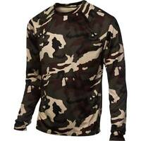The North Face Skull Horn Base Layer Shirt Top Ls Hunting/ski Camo $50 Men's