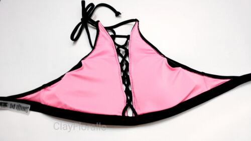 Victoria/'s Secret swim set PINK Embroidered Strappy High-Neck high waist bikini