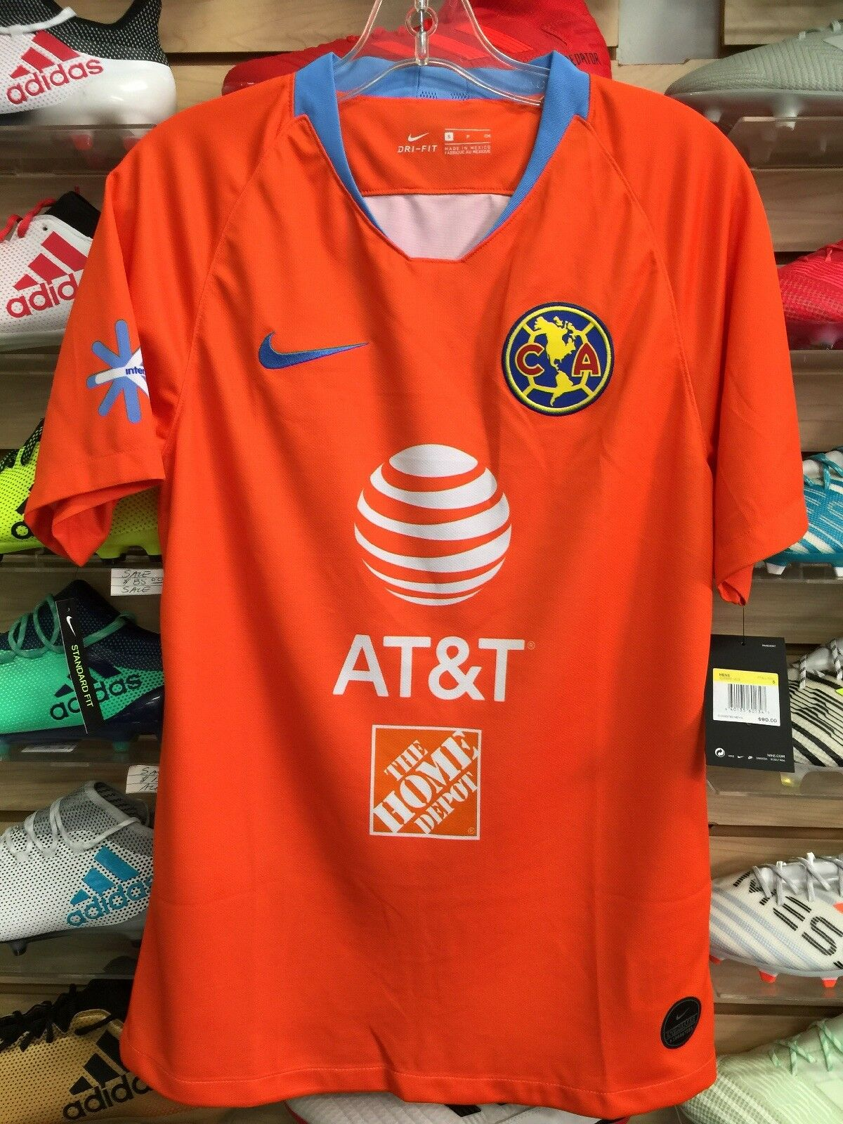 155df4b77 Nike Club America Third Jersey 2019 Orange Sky Size EXTRALARGE Only for  sale online | eBay