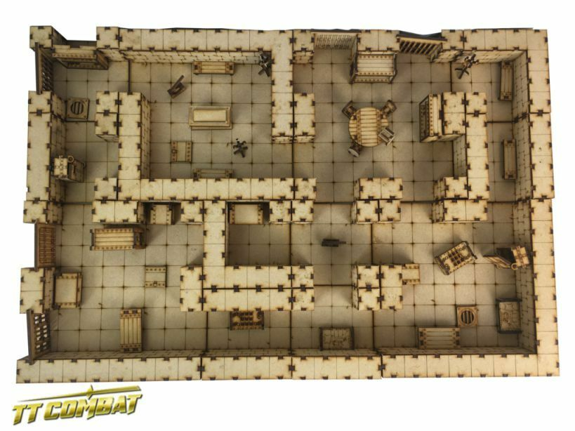 Ttcombat Deluxe Dungeon Set 28mm Terrain Utopia Building Home Fantasy D &