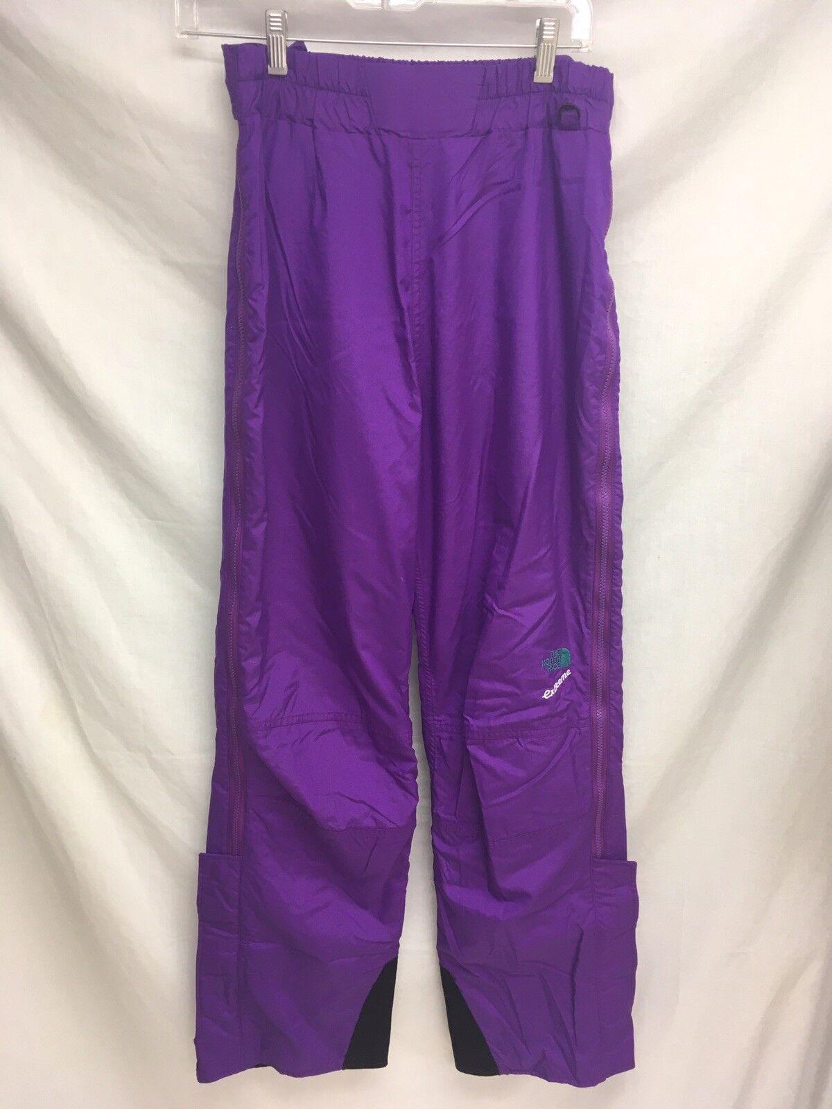 Vintage Northface lila Ski Snow Pant Größe 12(m/l) Größe Zip Euc Lined