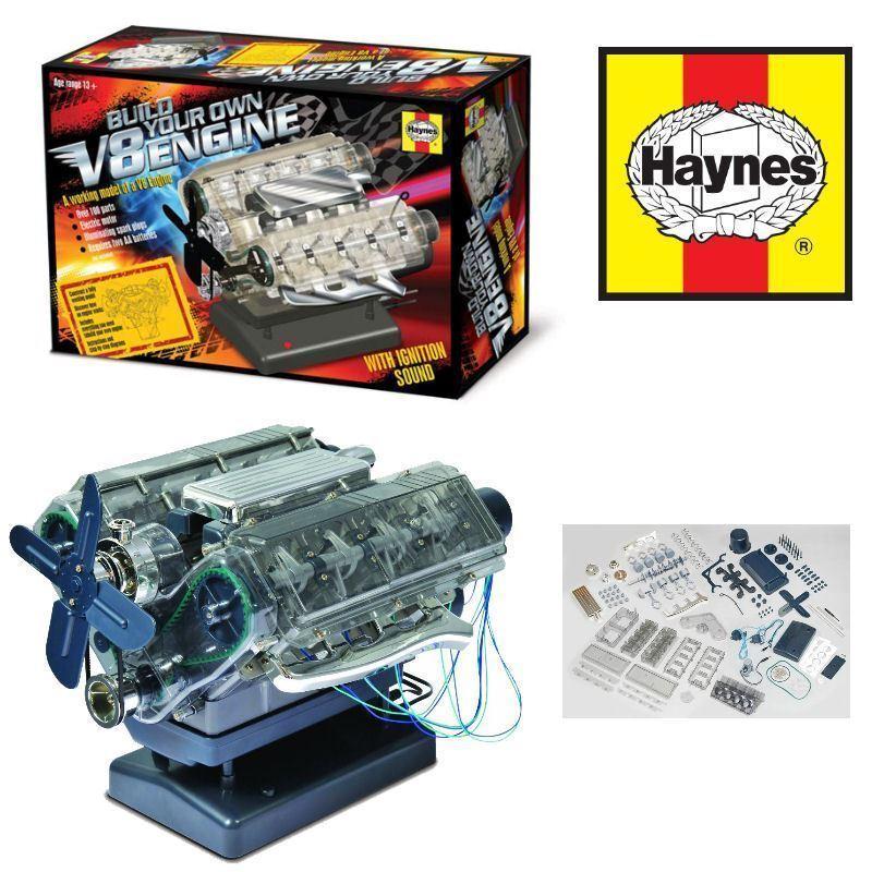 Haynes V8  Engine Model Kit Build Your Own Internal Sounds & Lights HM10