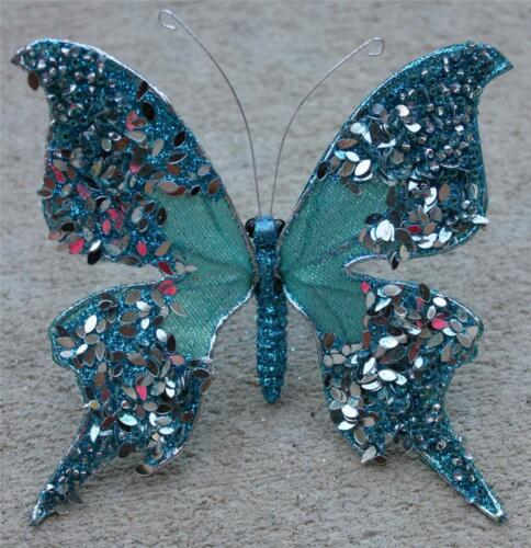 Butterfly Clip Wreath Decoration Craft Wedding Spring Wreath Floral Blue 38 New