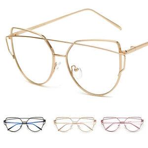 611bd61d23830 Classic Vintage Retro Clear Pilot Lens Gold Metal Frame Eyeglasses ...