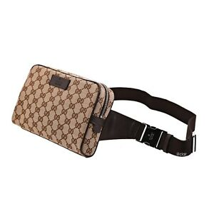 86b9170adfd Image is loading NWT-Authentic-Gucci-Gg-Waist-Belt-Fanny-Pack-